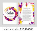 abstract vector layout... | Shutterstock .eps vector #715514806