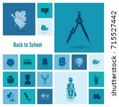 school and education icon set.... | Shutterstock .eps vector #715527442