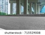 empty road surface floor with... | Shutterstock . vector #715529008