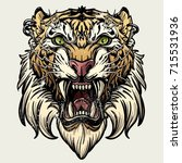 saber toothed tiger | Shutterstock .eps vector #715531936