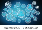 modern medical interface with... | Shutterstock . vector #715532362