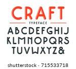 decorative sanserif bulk font... | Shutterstock .eps vector #715533718