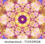 seamless kaleidoscope colored... | Shutterstock . vector #715539028