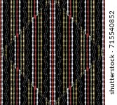 striped modern embroidery... | Shutterstock .eps vector #715540852