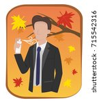 man in formal suit are spraying ... | Shutterstock .eps vector #715542316