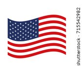 flag united states of america... | Shutterstock .eps vector #715542982