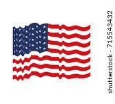 flag united states of america... | Shutterstock .eps vector #715543432