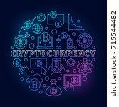 cryptocurrency round colorful... | Shutterstock .eps vector #715544482