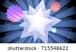 cartoon space planets. 3d...   Shutterstock . vector #715548622