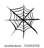 spider web vector symbol icon... | Shutterstock .eps vector #715552705