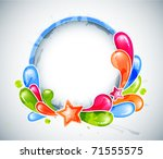 abstract funky circle frame  ...