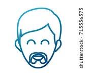 man smiling cartoon | Shutterstock .eps vector #715556575