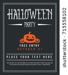 halloween poster design with... | Shutterstock .eps vector #715558102
