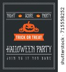 halloween poster design with... | Shutterstock .eps vector #715558252