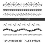 collection of various shape of... | Shutterstock .eps vector #715559506