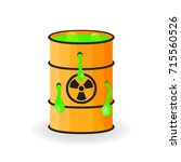 holey barrel with mucus.... | Shutterstock .eps vector #715560526