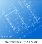 floor plan blueprint | Shutterstock .eps vector #71557390