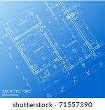 floor plan blueprint | Shutterstock .eps vector #71557390