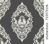 vector damask seamless pattern... | Shutterstock .eps vector #715575136