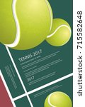 tennis championship poster... | Shutterstock .eps vector #715582648