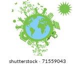 green eco globe | Shutterstock .eps vector #71559043