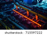 hot ingot after molten steel... | Shutterstock . vector #715597222