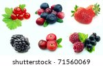 collection of berries close up... | Shutterstock . vector #71560069