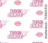 pink seamless pattern with... | Shutterstock .eps vector #715601512