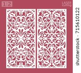 laser cut ornamental panels... | Shutterstock .eps vector #715610122