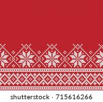norway festive sweater fairisle ... | Shutterstock .eps vector #715616266