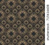 seamless pattern in art deco... | Shutterstock .eps vector #715616608