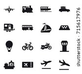 set of 16 vector icons such as... | Shutterstock .eps vector #715617976