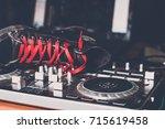dj control panel | Shutterstock . vector #715619458