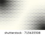comic halftone background.... | Shutterstock .eps vector #715635508