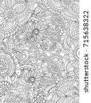 zentangle | Shutterstock .eps vector #715638322