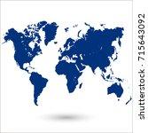 world map. | Shutterstock .eps vector #715643092