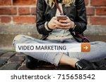 video marketing | Shutterstock . vector #715658542