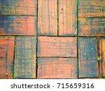 the stone block brick walk path | Shutterstock . vector #715659316