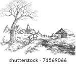 early spring landscape   Shutterstock .eps vector #71569066