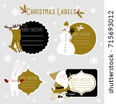 santa christmas winter template ...   Shutterstock .eps vector #715693012