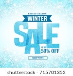 winter sale vector banner... | Shutterstock .eps vector #715701352