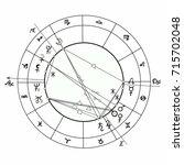 coloring natal astrological... | Shutterstock .eps vector #715702048
