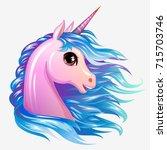 unicorn cute magic vector ... | Shutterstock .eps vector #715703746