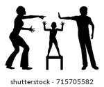 victim of domestic conflicts.... | Shutterstock . vector #715705582