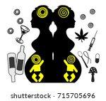 prenatal exposure to drugs and... | Shutterstock . vector #715705696
