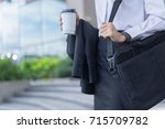 modern business woman working... | Shutterstock . vector #715709782
