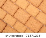 background made of biscuits | Shutterstock . vector #71571235