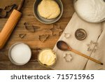 flatlay collection of tools and ... | Shutterstock . vector #715715965