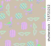 object  halftone seamless  ... | Shutterstock . vector #715721212