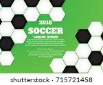 soccer ball poster  banner ...   Shutterstock .eps vector #715721458